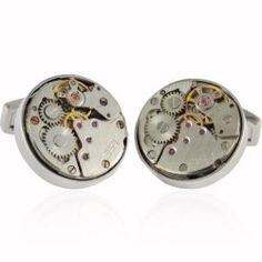 Unincorporated Minds: 12 Mechanical Cuff Links to Keep Any Party Moving #cufflinks #mens #style
