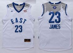Cleveland Cavaliers  23 LeBron James White 2016 All Star Jersey Nba  Cleveland d3bb5fca2