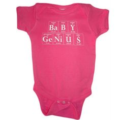 Periodically Interested Baby Genius Onesie Pink, $16, now featured on Fab.