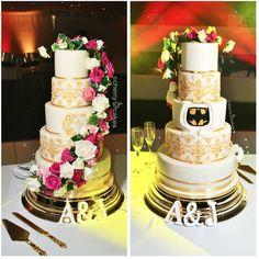 Batman/floral cake