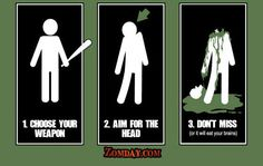 Zombie-fighting in three steps