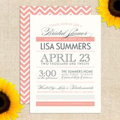 customized shower invitations. purchase the digital file online, print at home.