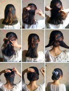 May have to try this with my daughter's hair. She complains regular ponytails give her headaches and this is really cute.