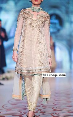 Off-white Crinkle Chiffon Suit. Formal and Party Pakistani dresses. Buy Designer formal wear and wedding dresses. Pakistani Frocks, Pakistani Party Wear, Pakistani Couture, Indian Bridal Lehenga, Pakistani Bridal Dresses, Pakistani Outfits, Pakistani Dresses Online Shopping, Online Dress Shopping, Pakistani Designer Suits