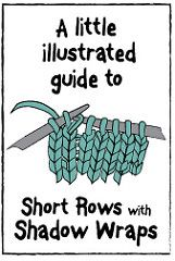 KNIT An Illustrated Guide to Short Rows Shadow Wrap TURNING  (original is NOT in English;However the Illustrated Instructions ARE IN ENGLISH)