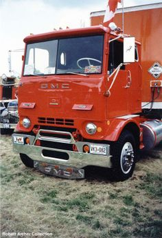 a nicely restored GMC with a sleeper COE cracker box