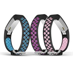 Save 70% on AMAZON with code E2XE788K Pinned on 9/27/2018 Jobese Compatible Fitbit Alta Bands & Alta Hr & Fitbit Ace Bands, (3 Pack) Two-Tone Soft Breathable Bands Compatible Fitbit Alta / Alta Hr / Fitbit Ace Silicone Replacement Wristbands Women Men Alta Bands, Electronic Deals, Fitbit Alta, How To Look Better, Tech, Amazon, Clothes, Accessories, Women