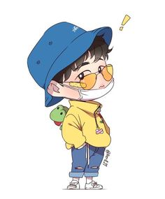 annyeong ^^ how cute you are. Kim Hanbin Ikon, Ikon Kpop, Yg Groups, Exo Anime, Ikon Member, Koo Jun Hoe, Ikon Wallpaper, Exo Fan Art, Stickers