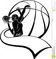 Girl Basketball Shooter With Pennant Royalty Free Stock Photo ...