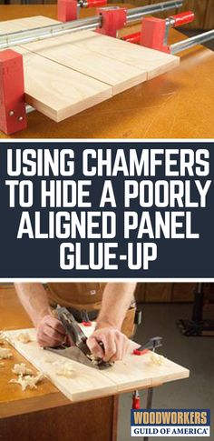 Small chamfers fix a gluing mistake.I'm under the gun. This small end table is the perfect gift for an old college friend, but I only have a couple of days left to complete the task. The only thing le Woodworking Glue, Small Woodworking Projects, Popular Woodworking, Custom Woodworking, Woodworking Tutorials, Woodworking Inspiration, Youtube Woodworking, Woodworking Magazine, Woodworking Classes