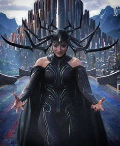 Cate Blanchett portrays the role of ''Hela'' in the film ''Thor: Ragnarok'', a 2017 American superhero movie, based on the Marvel Comics character ''Thor'', distributed by Walt Disney Studios Motion Pictures. Marvel Dc Comics, Marvel Villains, Marvel Comic Universe, Marvel Characters, Marvel Movies, Marvel Cinematic Universe, Marvel Avengers, Marvel Women, Book Characters