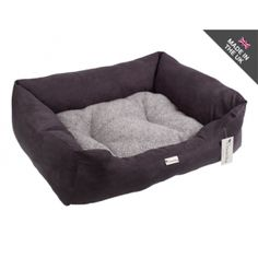 Chilli Dog Faux Suede & Sherpa Fleece Dog Bed