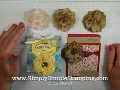 Simply Simple UPCYCLED PAPER NAPKIN FLOWER by Connie Stewart - YouTube