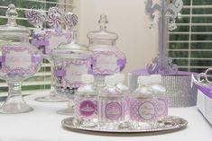 Purple Princess Birthday Party #princess #party #purple water bottles