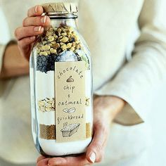 Chocolate Chip Quickbread in a jar