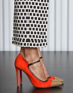 Mary Jane Stilettos Pumps by Etro Stilettos, Stiletto Heels, Orange Shoes, Looks Black, Shoe Closet, Ballerinas, Beautiful Shoes, Beautiful Pictures, Jimmy Choo