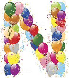 Decorative balloons M letter vector art illustration Monogram Alphabet, Alphabet And Numbers, Alfabeto Animal, Alphabet Templates, Alphabet Pictures, Powerpoint Background Design, Happy Birthday Balloons, Letter Balloons, Christmas Frames