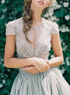 beautiful #wedding #bride #gray #beauty