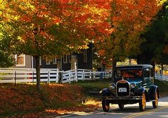 """""""On a beautiful day at Canterbury Shaker Village in Canterbury, New Hampshire, as I was waiting to cross the street, I noticed this antique car—an amazing photo opportunity."""" (Courtesy briaticogirl/myBudgetTravel)"""
