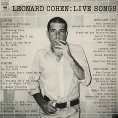 This Leonard Cohen show was going badly until he dropped acid | Dangerous Minds