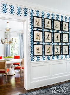 Lee Kleinhelter and T. Adams Studio inject a historic Dutch Colonial home with happy hues and classic character Dutch Colonial Homes, New England Farmhouse, Antique Dining Chairs, Diy Wallpaper, Atlanta Homes, Color Stories, Historic Homes, Bold Colors, Interior And Exterior