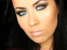 Makeup+Tutorials+for+Green+Eyes | green smokey eye look is sure to become your favorite party makeup ...