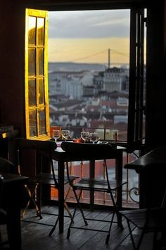 Lisbon at sunset - Portugal Oh The Places You'll Go, Places To Visit, Beautiful World, Beautiful Places, Simply Beautiful, Window View, Through The Window, Travel Photos, Ramen