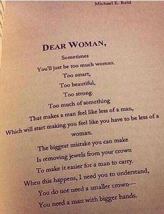 Dear woman