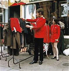 theswinginsixties: I Was Lord Kitchener's Valet, Portobello Road, Photo by David Graves. 1960s Fashion, Pop Fashion, Vintage Fashion, Club Fashion, Psychedelic Fashion, Old London, Vintage London, West London, Vintage Shops
