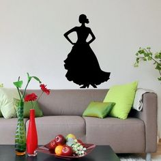 Girl in Dress Woman Dancing Silhouette Flamenco Wall Vinyl Decals Art Sticker Home Modern Stylish Interior Decor for Any Room Smooth and Flat Surfaces Housewares Murals Design Window Graphic Dance Studio Bedroom Living Room (5103) stickergraphics http://www.amazon.com/dp/B00IT5SIDO/ref=cm_sw_r_pi_dp_AgOVtb0P6ZXK3GES