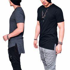 5c7f1663c Camiseta Camisa Longline Oversized Masculina Longa Alongada Lindaa!