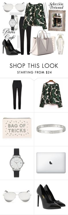 """""""Inspirations // High Waisted Trousers"""" by mia-rose96 ❤ liked on Polyvore featuring Victoria Beckham, ALPHABET BAGS, Cartier, Olivia Burton, Yves Saint Laurent, Victoria's Secret and vintage"""
