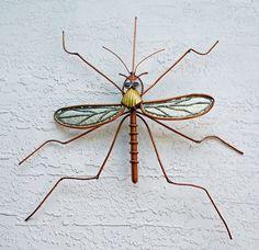Mosquito Garden Sculpture Outdoor Sculpture Copper by JoChamness