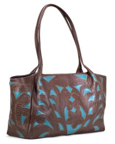 $180.00  Leaders in Leather Classic N/S Cutout Tote  www.CountryOutfitters.com