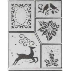 Šablona - Vánoční motivy  (D9)
