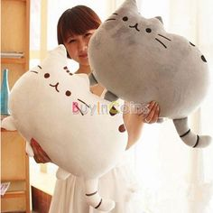 Big Cat Shape Pillow Cushion Soft Plush Toy Doll Home Sofa Decoration Decor RSUS