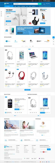 CenaStore is clean and modern design PSD template for stunning #onlineshop #eCommerce website with 10 unique homepages and 29 layered PSD pages download now..