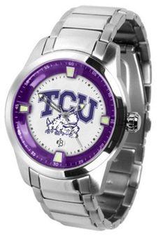 Texas Christian Horned Frogs Titan Steel Watch by SunTime, http://www.amazon.com/dp/B002BGDPRQ/ref=cm_sw_r_pi_dp_6P64qb05N1PHY