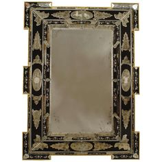 2 Italian Layered Glass Wall Mirrors with Neoclassical Designs | From a unique collection of antique and modern wall mirrors at http://www.1stdibs.com/furniture/mirrors/wall-mirrors/