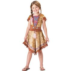 Colorful Indian Maiden Girl's Costume - OrientalTrading.com