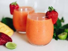 A delicious mango-flavoured drink.