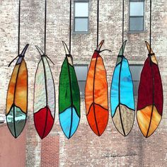 Stain glass feathers by colin adrian http://colinadrianglass.tumblr.com