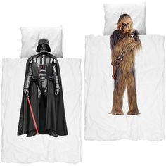 If you crave sleeping with a Sith Lord or a Wookiee, the J. Kids' Snurk Star Wars Bedding provides the duvet cover and pillowcase you're looking for.  Made exclusively for JCrew and only available online, this twin-sized cotton bedding brings Chewbacca and Darth Vader to bed with you