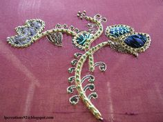 broderie indienne (indian embroidery)