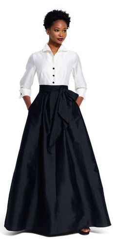 Adrianna Papell | Taffeta Blouse with Ball Skirt