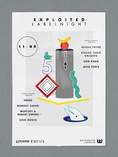 visualism blog: EXPLOITED LABEL NIGHT