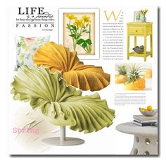 """Spring"" by jana-masarovicova ❤ liked on Polyvore featuring interior, interiors, interior design, home, home decor, interior decorating, Sauder, Spring, design and decor"