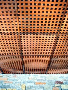 Lattice Ceiling W Black Paint Photo For The Home