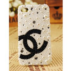 iPhone4S/4/3GS Chanel Logo Handmade Pearl Case