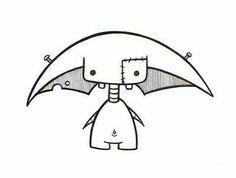 Cute Monsters Drawings, Cute Easy Drawings, Cute Animal Drawings, Doodle Drawings, Art Drawings Sketches, Cartoon Drawings, Graffiti Doodles, Graffiti Art, Easy Graffiti Drawings